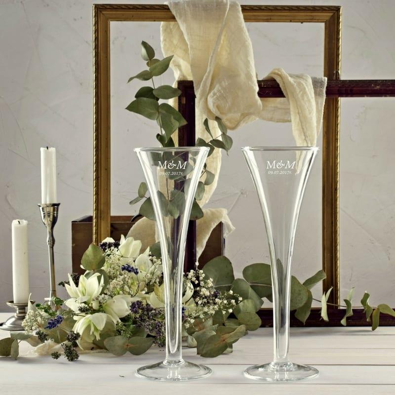 Kieliszki do szampana Degas z grawerem 2 sztuki