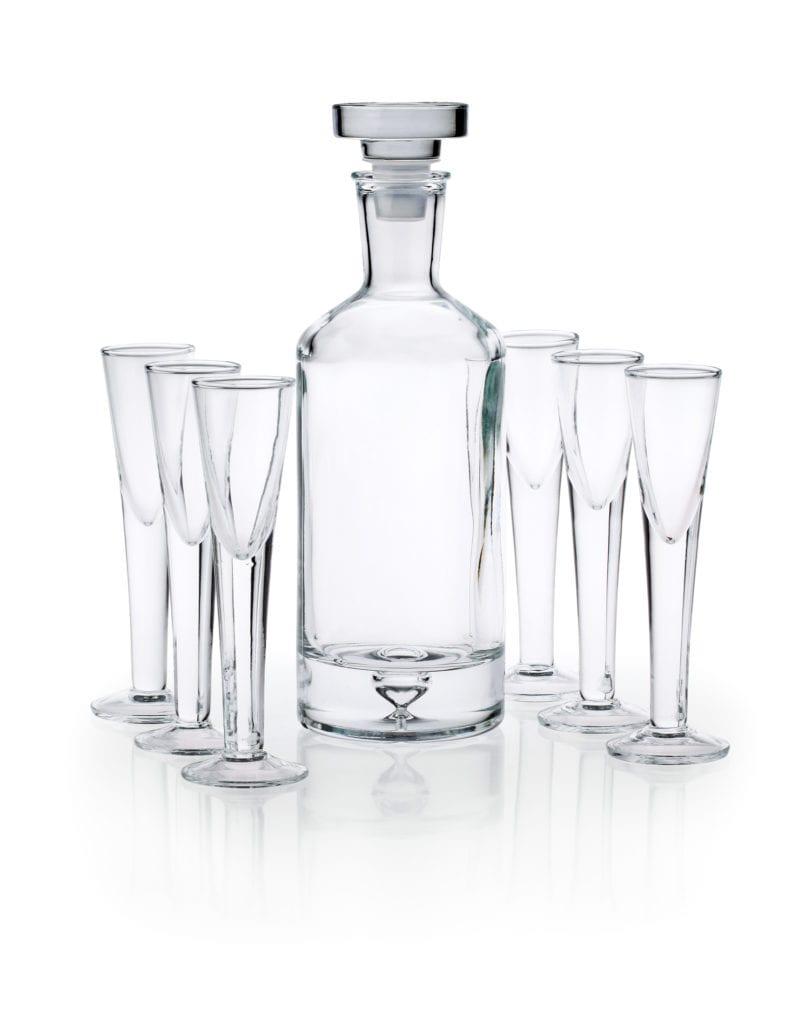 Zestaw Karafka Butelkowa + 6 kieliszków