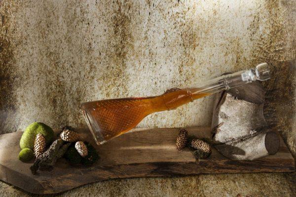 szklana karafka na alkohol strzelba 1l