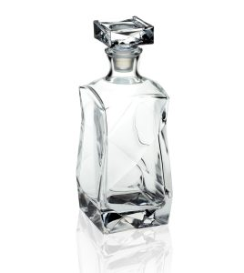 Karafka szklana z korkiem szklanym do whisky