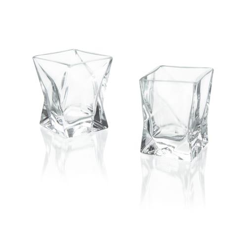 kieliszki szklane do wodki i whisky