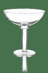szklana duza owocarka na nozce
