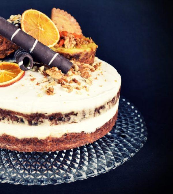 szklana patera na ciasto karo