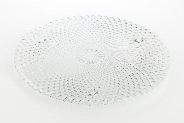 szklana patera w karo krysztal