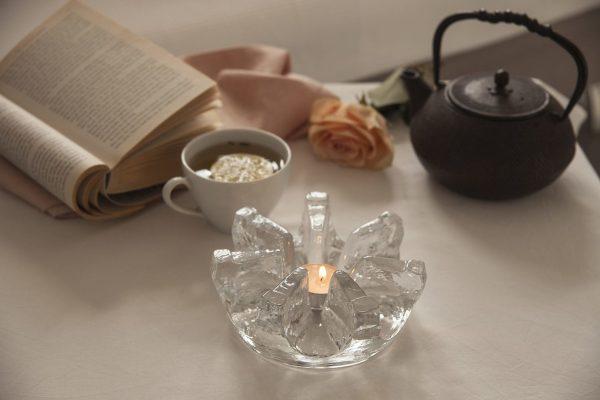 szklany podgrzewacz do herbaty