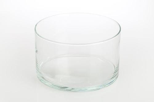 Salaterka szklana prosta okragla 17 cm