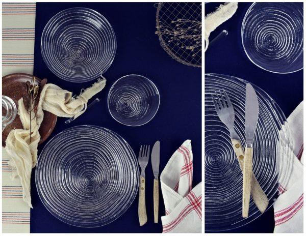 zastawa stolowa nowoczesna szklana