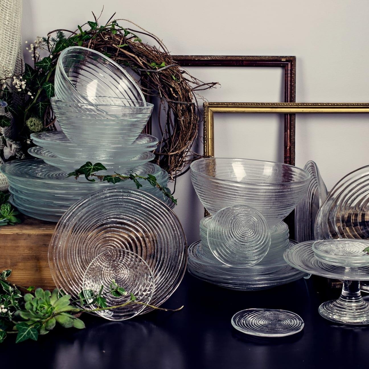 Zastawa stołowa szklana – Serwis obiadowy Rotor 28 elementów