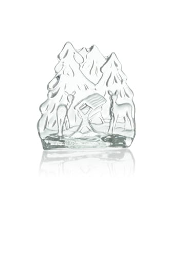 szklany swiecznik ozdobny lesny krajobraz