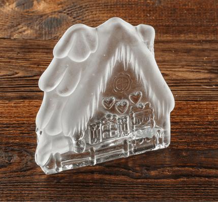 szklany swiecznik piernikowa chatka do dekoracji