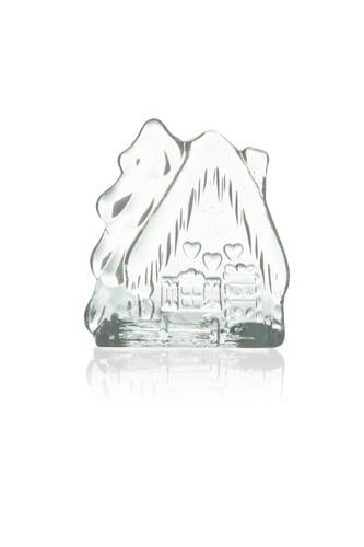 dekoracyjny szklany swiecznik piernowa chatka
