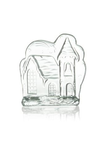 swiecznik dekoracyjny szklany zamek