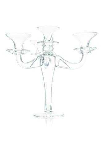 trojramienny swiecznik szklany