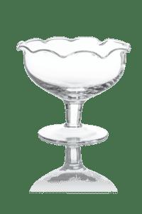 szklana cukiernica na nozce falowana do kuchni