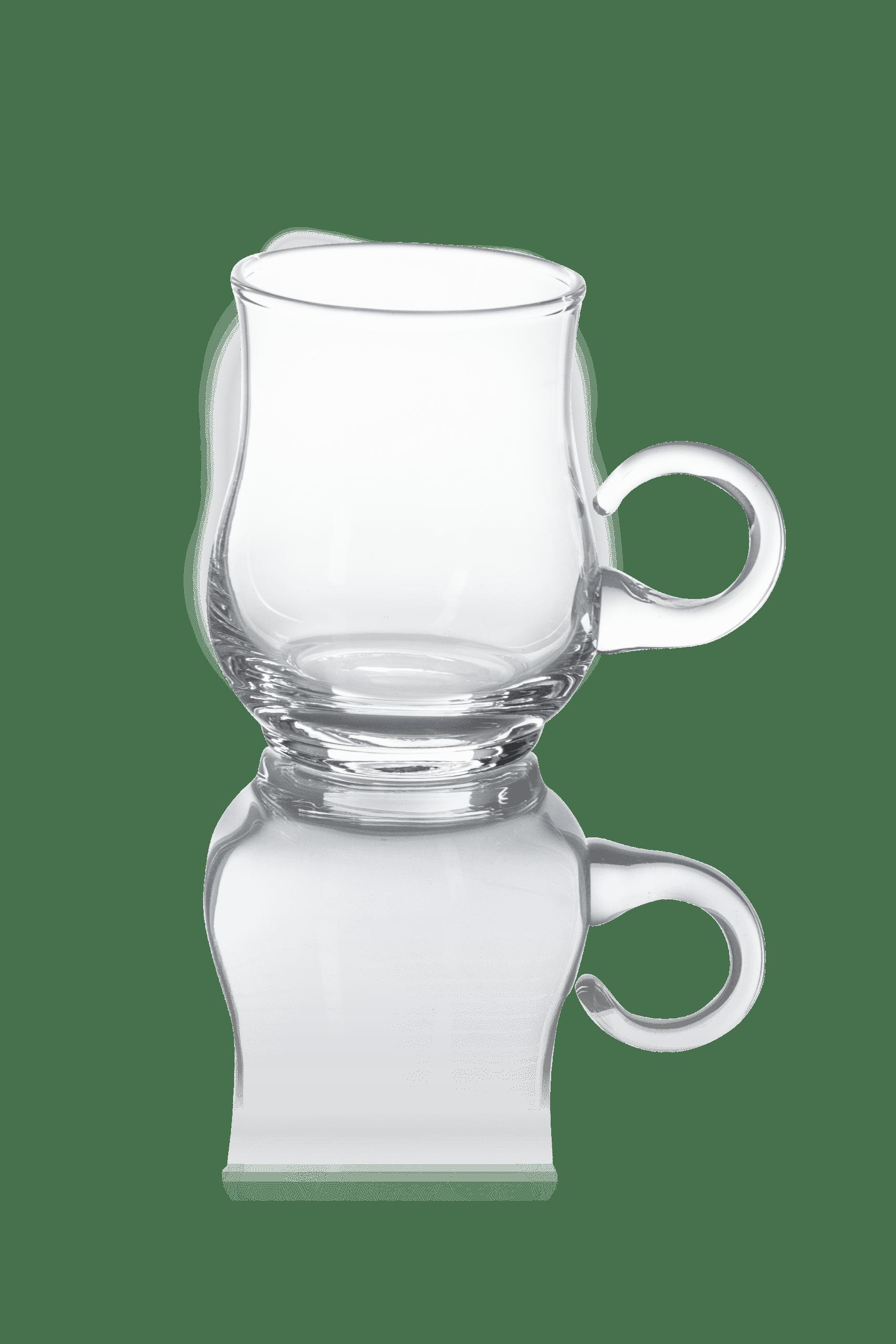 Szklanka przeźroczysta z uchem do Boli