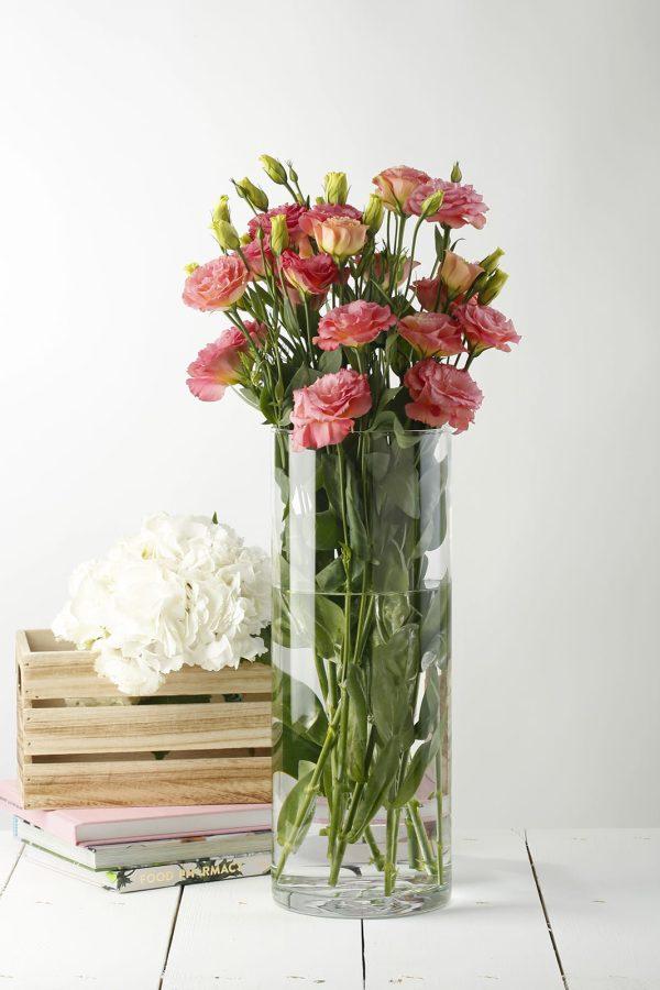 szklana tuba na kwiaty wazon cylinder