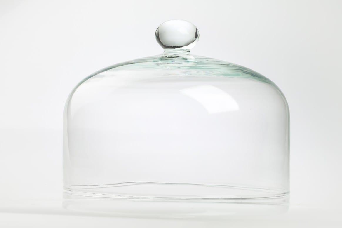 Klosz szklany do patery o średnicy 29,5 cm i wysokości 22,5 cm