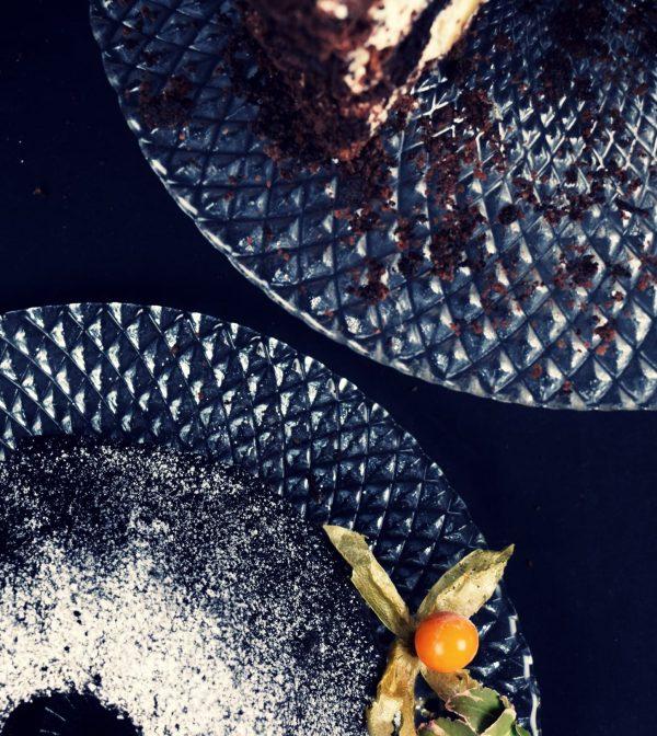 tortownica karo do ciast i ciasteczek szklana