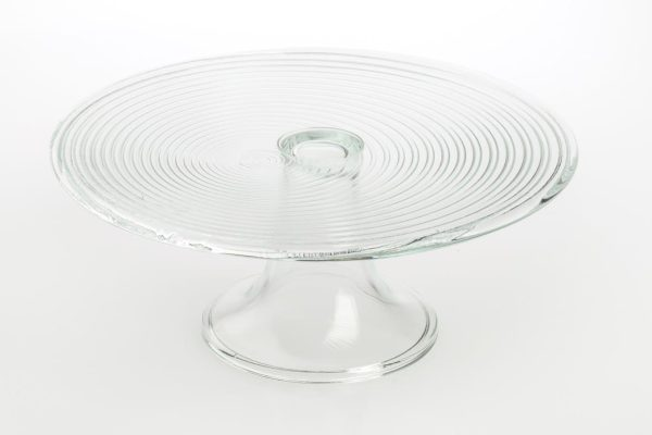 szklana tortownica na nozce rotor