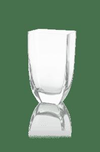 przezroczysty wazon dekoracyjny szklany 22 cm