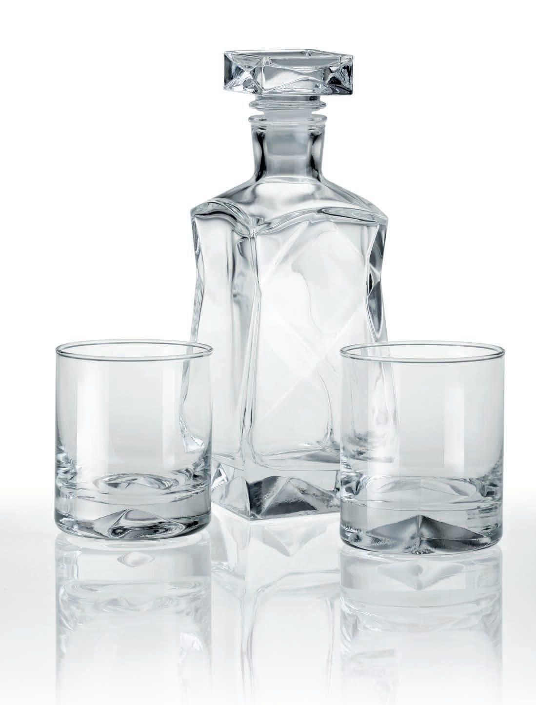 Zestaw karafka i szklanki do whisky z grawerem