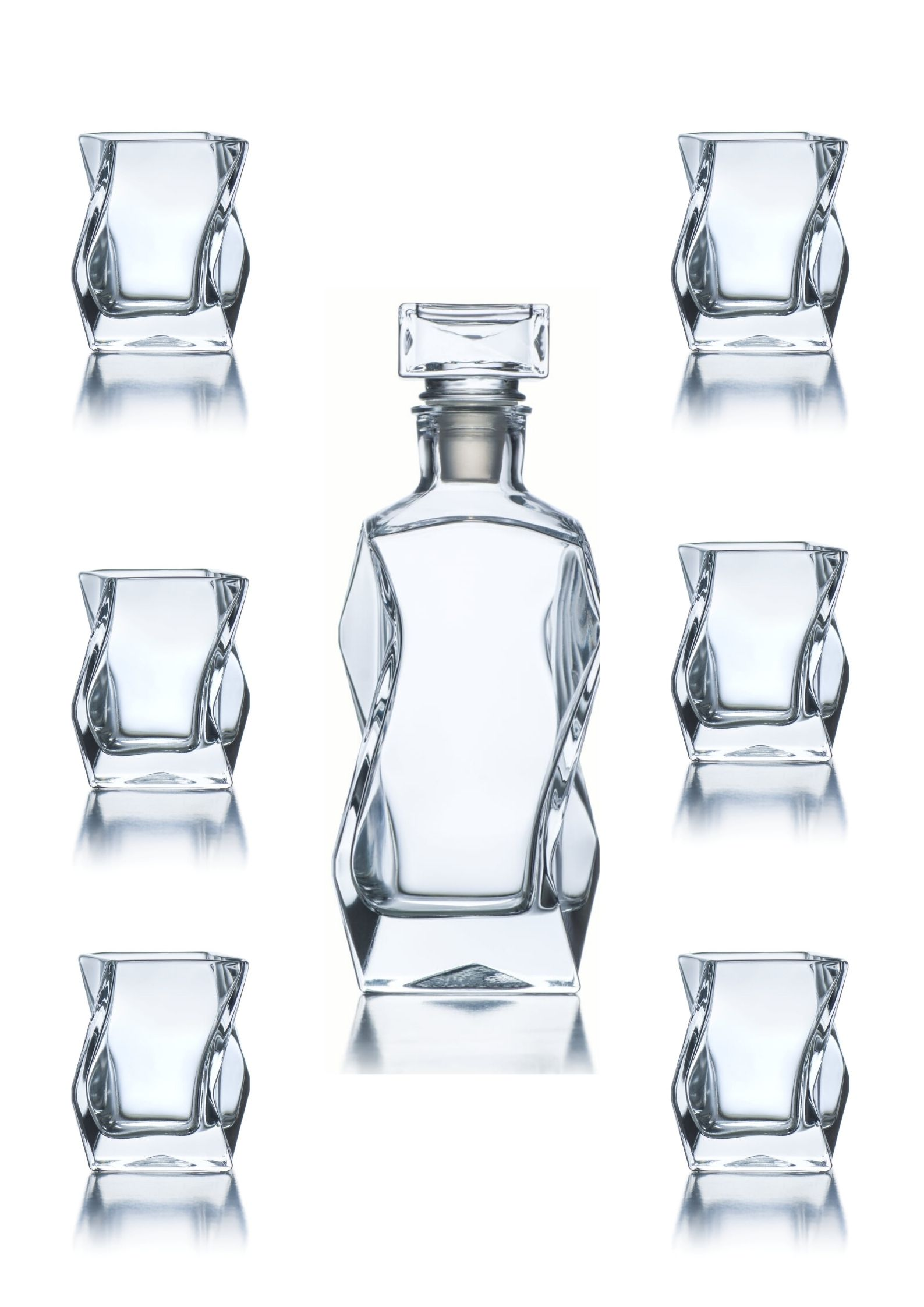 zestaw do whisky szklanki i karafka