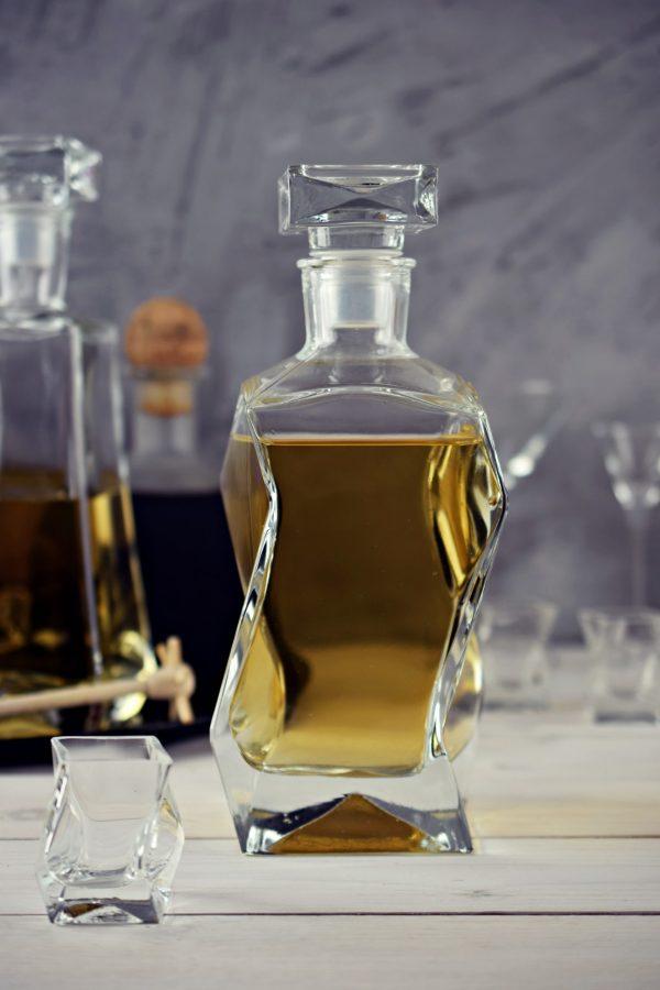 zestaw do whisky karafka lamana szklana edwanex